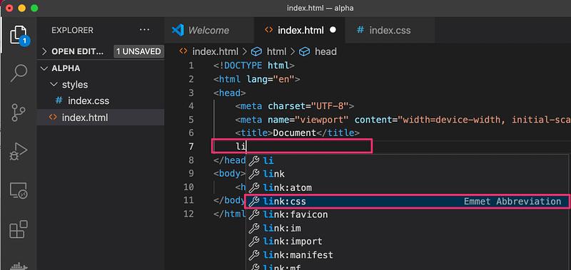 HTMLからCSSを読み込む