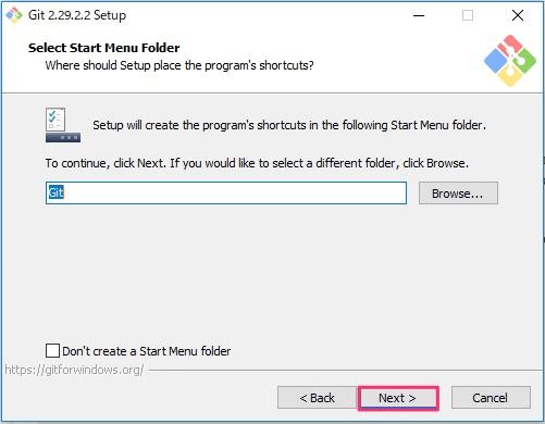 Git for Windowsインストール画面4