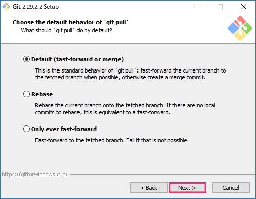 Git for Windowsインストール画面11