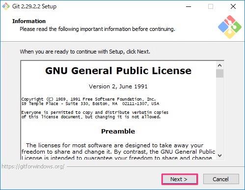 Git for Windowsインストール画面1