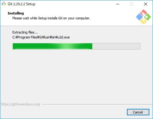 Git for Windowsインストール画面15