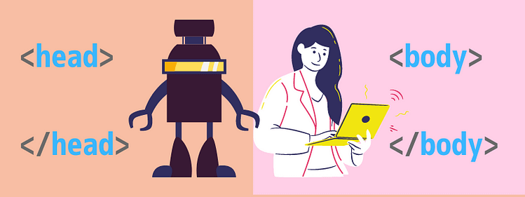 HTML head vs body
