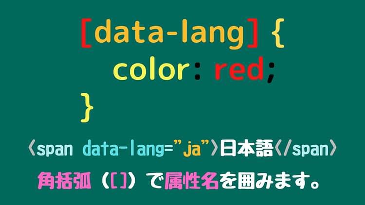 属性セレクタの構文[CSS]