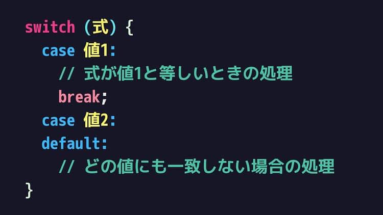 switchの構文