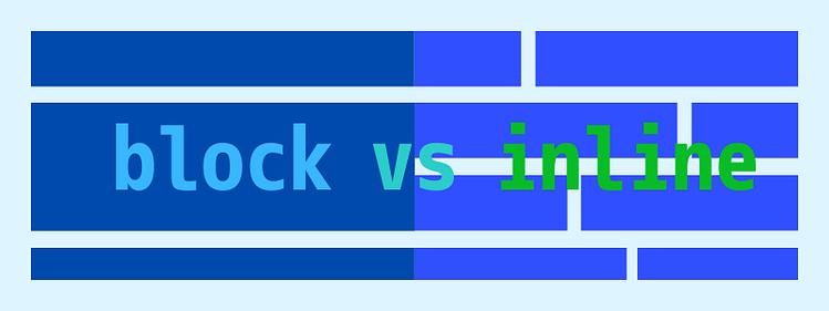 HTML display block vs inline
